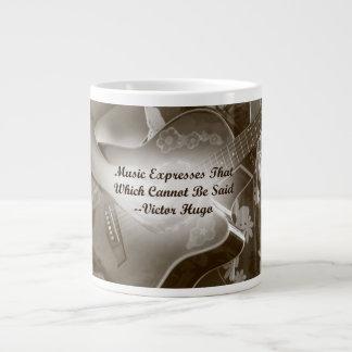 La música expresa ese decir de la foto de la guita taza grande