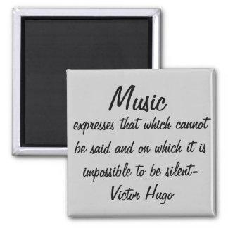 La música expresa… imán cuadrado