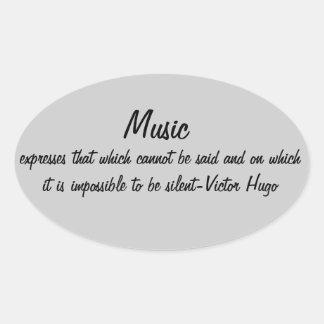 La música expresa… calcomanías de ovales personalizadas