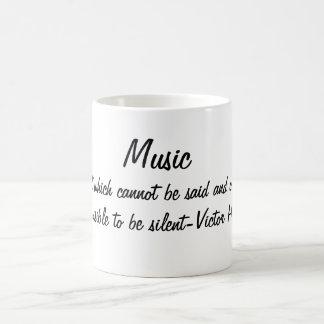 La música expresa… taza de café