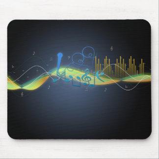 La música fresca de los efectos que brilla intensa tapete de raton