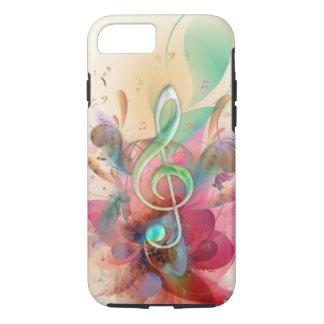 La música fresca del clef agudo de los funda iPhone 7