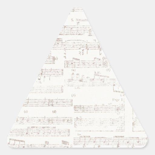 la MÚSICA GRIS CLARA ephemera16 BARRA FONDOS de Colcomanias De Triangulo