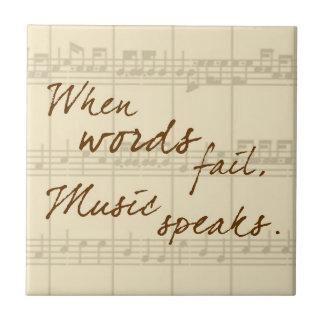 La música habla teja  ceramica