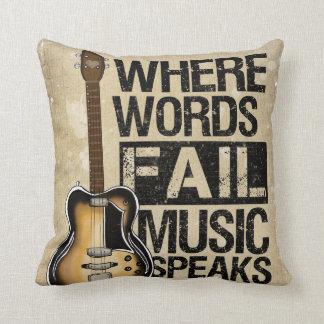 La música habla cojín decorativo