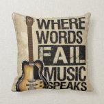 La música habla cojines