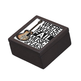 La música habla el | elige su color de fondo caja de regalo de calidad