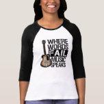La música habla el | elige su color de fondo camisetas