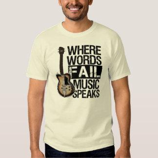 La música habla el | elige su color de fondo remera