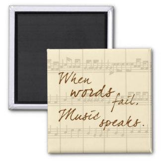 La música habla imán cuadrado