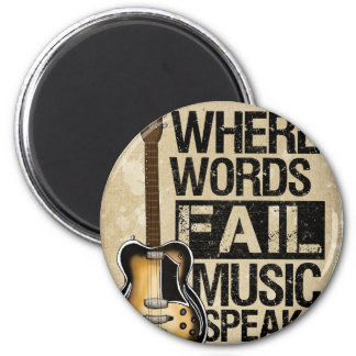 la música habla imán redondo 5 cm