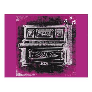 La música habla la postal