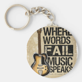 la música habla llavero personalizado