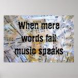 La música habla poster
