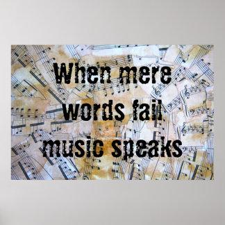 La música habla póster