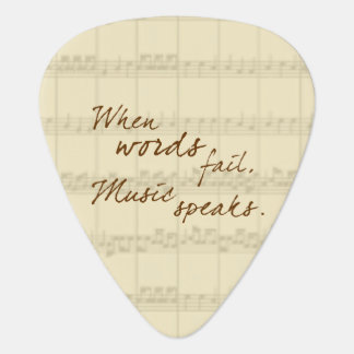 La música habla púa de guitarra