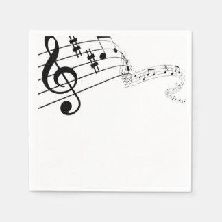 La música habla servilletas servilleta desechable