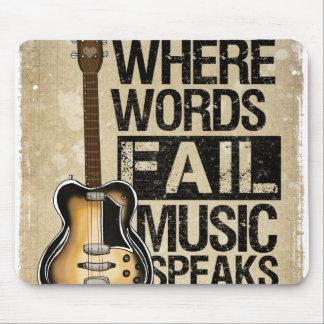 la música habla tapete de ratones