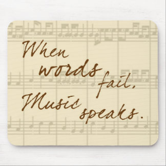 La música habla alfombrilla de ratón