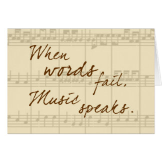 La música habla tarjeta