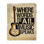 la música habla tarjeta postal