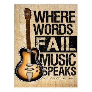 La música habla postales