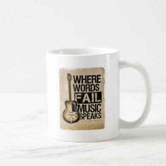la música habla taza de café