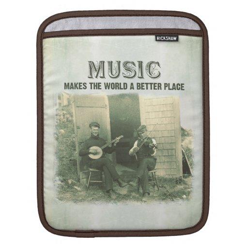 La música hace el mundo una mejor foto del vintage fundas para iPads