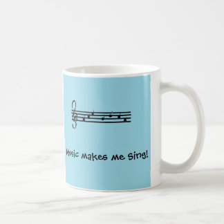 La música hace que canta taza