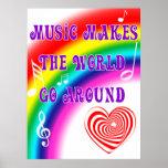 La música hace que el mundo va alrededor impresiones