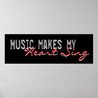 La música hace que mi corazón canta el poster