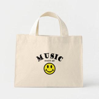 La música hace que sonríe bolsas