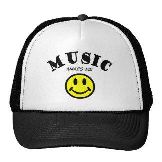 La música hace que sonríe gorras