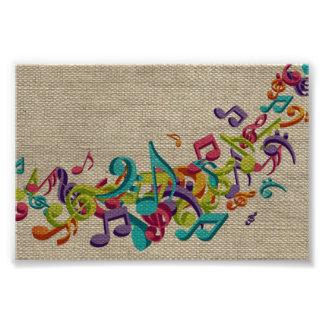 La música hermosa de la textura de la arpillera ob foto