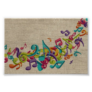 La música hermosa de la textura de la arpillera ob fotografías