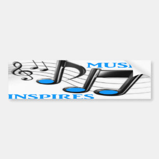 La música inspira etiqueta de parachoque