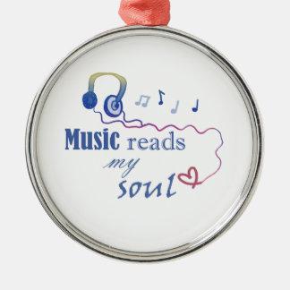 La música LEE mi alma Adorno Redondo Plateado