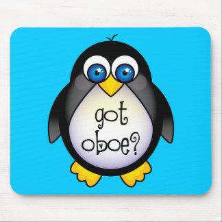 La música linda del pingüino consiguió Oboe Alfombrilla De Ratón
