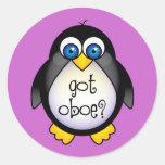 La música linda del pingüino consiguió Oboe Pegatina