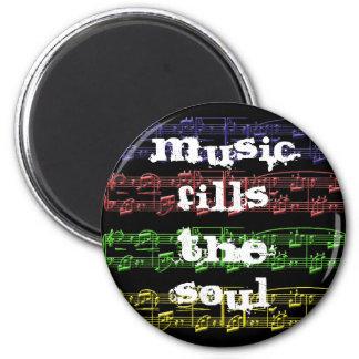 La música llena el imán del alma