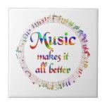 La música lo hace mejor azulejos cerámicos