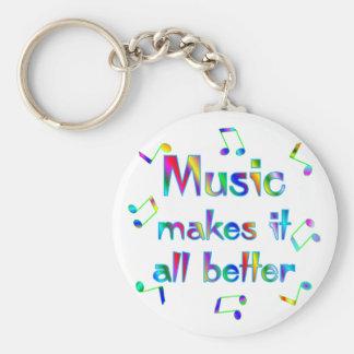 La música lo hace mejor llavero