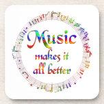 La música lo hace mejor posavaso