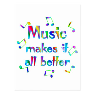La música lo hace mejor tarjeta postal