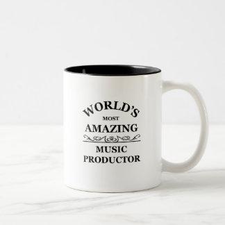 La música más asombrosa Productor del mundo Tazas