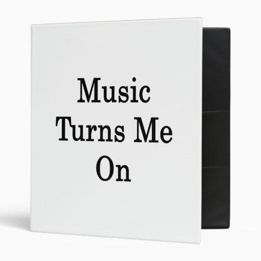 La música me gira