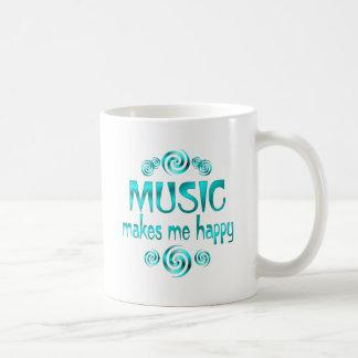 La música me hace feliz taza
