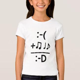 """La """"música me hace la camiseta"""" del chica feliz playera"""