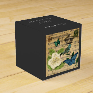 la música moderna observa la impresión botánica caja para regalo de boda