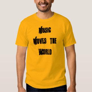 La música mueve el mundo playera